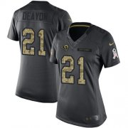 Wholesale Cheap Nike Rams #21 Donte Deayon Black Women's Stitched NFL Limited 2016 Salute to Service Jersey