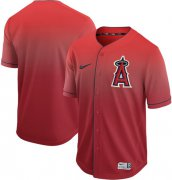 Wholesale Cheap Nike Angels of Anaheim Blank Red Fade Authentic Stitched MLB Jersey