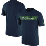 Wholesale Cheap Seattle Seahawks Nike Sideline Seismic Legend Performance T-Shirt Navy