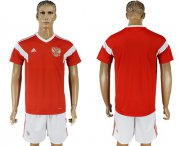 Wholesale Cheap Russia Blank Home Soccer Country Jersey