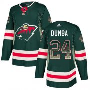 Wholesale Cheap Adidas Wild #24 Matt Dumba Green Home Authentic Drift Fashion Stitched NHL Jersey