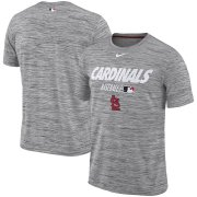 Wholesale Cheap St. Louis Cardinals Nike Authentic Collection Velocity Team Issue Performance T-Shirt Gray