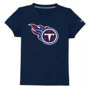 Wholesale Cheap Tennessee Titans Sideline Legend Authentic Logo Youth T-Shirt Dark Blue