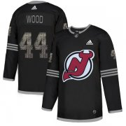 Wholesale Cheap Adidas Devils #44 Miles Wood Black Authentic Classic Stitched NHL Jersey