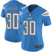 Wholesale Cheap Nike Chargers #30 Austin Ekeler Electric Blue Alternate Women's Stitched NFL Vapor Untouchable Limited Jersey