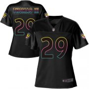 Wholesale Cheap Nike Ravens #29 Earl Thomas III Black Women's NFL Fashion Game Jersey