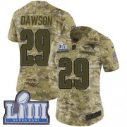 Wholesale Cheap Nike Patriots #29 Duke Dawson Camo Super Bowl LIII Bound Women's Stitched NFL Limited 2018 Salute to Service Jersey