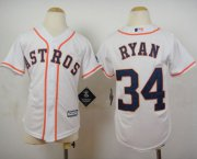 Wholesale Cheap Astros #34 Nolan Ryan White Cool Base Stitched Youth MLB Jersey