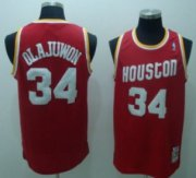 Wholesale Cheap Houston Rockets #34 Hakeem Olajuwon Red Swingman Throwback Jersey