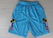Wholesale Cheap Los Angeles Clippers 2013 Light Blue Short