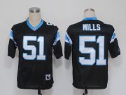 Wholesale Cheap Mitchell And Ness Panthers #51 Sam Mills Black Stitched NFL Jersey