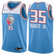 Wholesale Cheap Women's Sacramento Kings #35 Marvin Bagley III Blue NBA Swingman City Edition Jersey