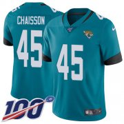 Wholesale Cheap Nike Jaguars #45 K'Lavon Chaisson Teal Green Alternate Men's Stitched NFL 100th Season Vapor Untouchable Limited Jersey