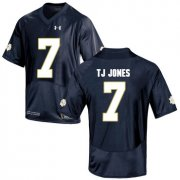 Wholesale Cheap Notre Dame Fighting Irish 7 TJ Jones Navy College Football Jersey