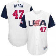 Wholesale Cheap Team USA #47 Sam Dyson White 2017 World MLB Classic Authentic Stitched MLB Jersey
