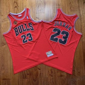 Wholesale Cheap Men\'s Chicago Bulls #33 Scottie Pippen 1993-2013 20th Champions Patch Red Hardwood Classics Soul AU Throwback Jersey