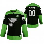 Wholesale Cheap St. Louis Blues Custom Men's Adidas Green Hockey Fight nCoV Limited NHL Jersey
