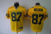 Wholesale Cheap Packers #87 Jordy Nelson Yellow Stitched NFL Jersey