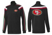 Wholesale Cheap NFL San Francisco 49ers Team Logo Jacket Black_2
