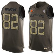 Wholesale Cheap Nike Browns #82 Ozzie Newsome Green Men's Stitched NFL Limited Salute To Service Tank Top Jersey