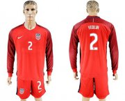 Wholesale Cheap USA #2 Yedlin Away Long Sleeves Soccer Country Jersey