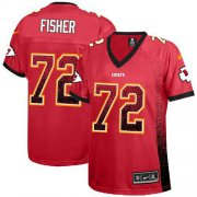 Wholesale Cheap Nike Chiefs #72 Eric Fisher Red Team Color Women's Stitched NFL Elite Drift Fashion Jersey
