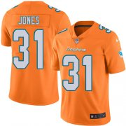 Wholesale Cheap Nike Dolphins #31 Byron Jones Orange Men's Stitched NFL Limited Rush Jersey