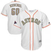 Wholesale Cheap Astros #60 Dallas Keuchel White 2018 Gold Program Cool Base Stitched MLB Jersey