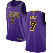 Wholesale Cheap Men's Los Angeles Lakers #7 JaVale McGee Purple Nike NBA City Edition Authentic Jersey