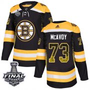 Wholesale Cheap Adidas Bruins #73 Charlie McAvoy Black Home Authentic Drift Fashion 2019 Stanley Cup Final Stitched NHL Jersey