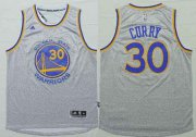 Wholesale Cheap Men's Golden State Warriors #30 Stephen Curry Revolution 30 Swingman 2014 New Gray Jersey