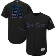 Wholesale Cheap marlins #54 Wei-Yin Chen Black Flexbase Authentic Collection Stitched MLB Jersey
