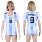 Wholesale Cheap Women's Argentina #9 Batistuta Home Soccer Country Jersey