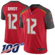 Wholesale Cheap Nike Buccaneers #12 Tom Brady Red Team Color Youth Stitched NFL 100th Season Vapor Untouchable Limited Jersey