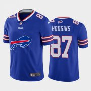 Wholesale Cheap Buffalo Bills #87 Isaiah Hodgins Royal Blue Men's Nike Big Team Logo Vapor Limited NFL Jersey