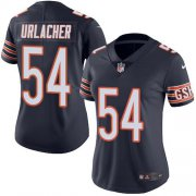 Wholesale Cheap Nike Bears #54 Brian Urlacher Navy Blue Team Color Women's Stitched NFL Vapor Untouchable Limited Jersey