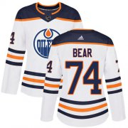Wholesale Cheap Adidas Oilers #74 Ethan Bear White Road Authentic Women's Stitched NHL Jersey