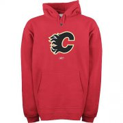 Wholesale Cheap Reebok Calgary Flames Primary Logo Hooded Sweatshirt