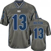 Wholesale Cheap Nike Colts #13 T.Y. Hilton Grey Youth Stitched NFL Elite Vapor Jersey