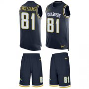 Wholesale Cheap Nike Chargers #81 Mike Williams Navy Blue Team Color Men's Stitched NFL Limited Tank Top Suit Jersey