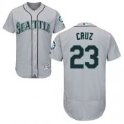 Wholesale Cheap Mariners #23 Nelson Cruz Grey Flexbase Authentic Collection Stitched MLB Jersey