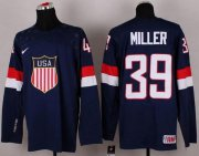 Wholesale Cheap 2014 Olympic Team USA #39 Ryan Miller Navy Blue Stitched NHL Jersey