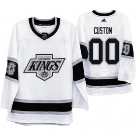 Wholesale Cheap Los Angeles Kings Custom Men\'s Adidas 2019-20 Heritage White Throwback 90s NHL Jersey