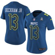 Wholesale Cheap Nike Giants #13 Odell Beckham Jr Navy Women's Stitched NFL Limited NFC 2017 Pro Bowl Jersey