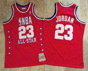 Wholesale Cheap NBA 1989 All-Star #23 Michael Jordan Red Hardwood Classics Soul AU Throwback Jersey