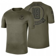 Wholesale Cheap Atlanta Falcons #18 Calvin Ridley Olive 2019 Salute To Service Sideline NFL T-Shirt