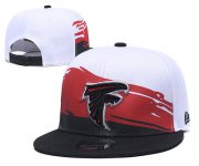 Wholesale Cheap Falcons Team Logo Black Red Adjustable Hat