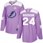 Cheap Adidas Lightning #24 Zach Bogosian Purple Authentic Fights Cancer Stitched NHL Jersey