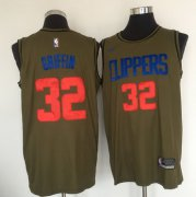 Wholesale Cheap Los Angeles Clippers #32 Blake Griffin Olive Nike Swingman Jersey