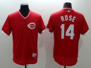 Wholesale Cheap Reds #14 Pete Rose Red Flexbase Authentic Collection Cooperstown Stitched MLB Jersey
